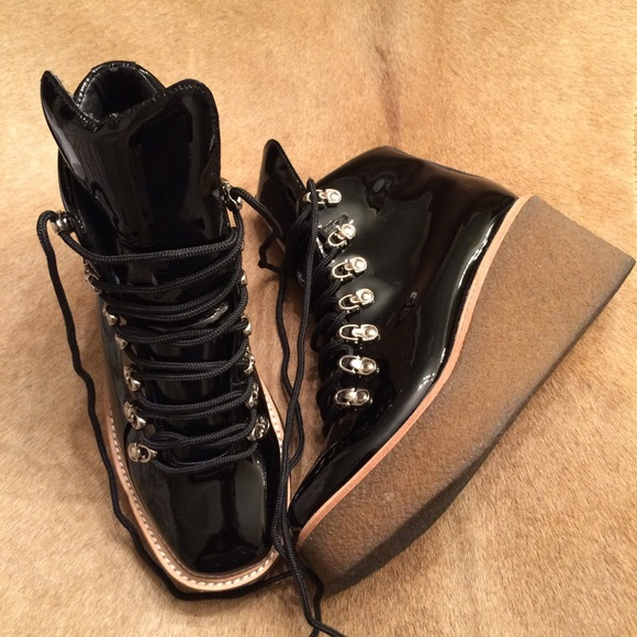 5a15b0162c Jeffrey Campbell Shoes - Jeffrey Campbell Viajar Platform Wedge Bootie